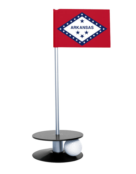 Arkansas State Flag Putt-A-Round with a black base. Improve your short game.