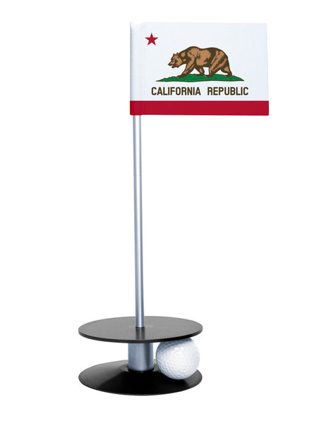 California State Flag Putt-A-Round with a black base. Improve your short game.