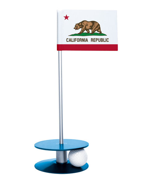 California State Flag Putt-A-Round with a blue base. Improve your short game.