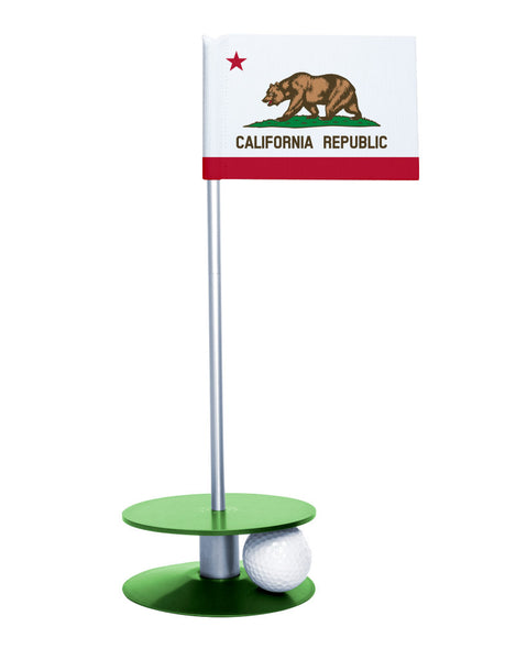 California State Flag Putt-A-Round with a green base. Improve your short game.