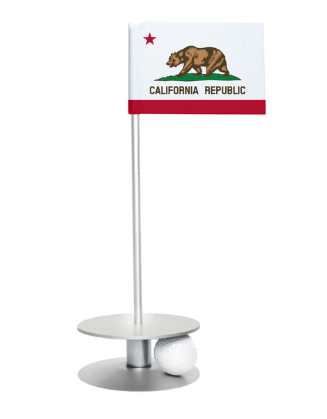 California State Flag Putt-A-Round with a silver base. Improve your short game.