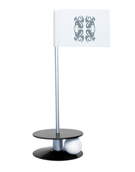 Putt-A-Round Classic Flag Putting Aid with Black Base - An elegant solution to perfect your golf short game