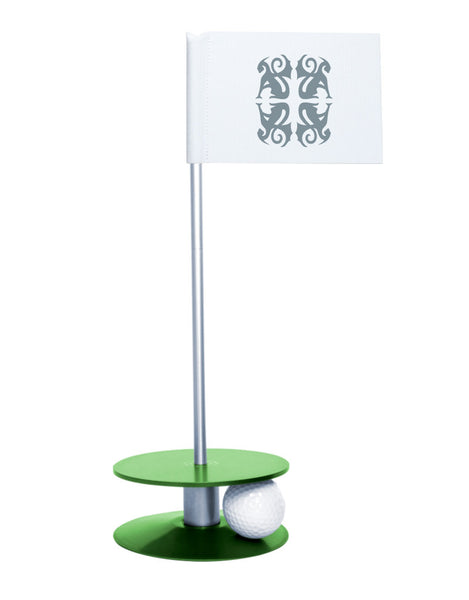 Putt-A-Round Classic Flag Putting Aid with Green Base - An elegant solution to perfect your golf short game