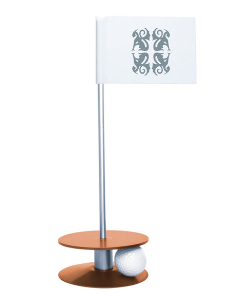 Putt-A-Round Classic Flag Putting Aid with Orange Base - An elegant solution to perfect your golf short game