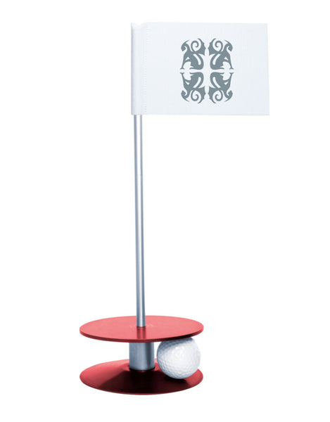 Putt-A-Round Classic Flag Putting Aid with Red Base - An elegant solution to perfect your golf short game