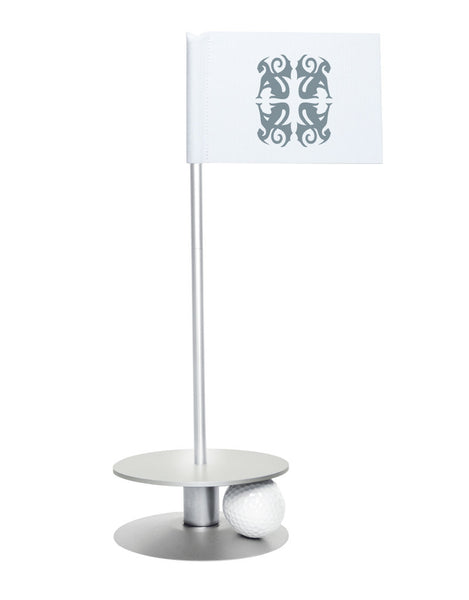 Putt-A-Round Classic Flag Putting Aid with Silver Base - An elegant solution to perfect your golf short game