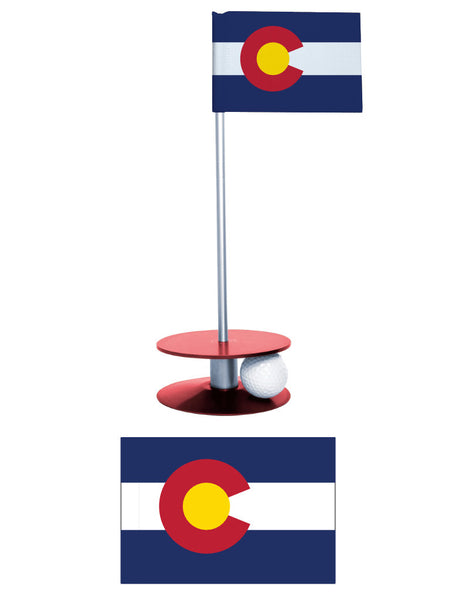 Colorado State Flag Putt-A-Round makes a great gift for the Coloradan golfer.