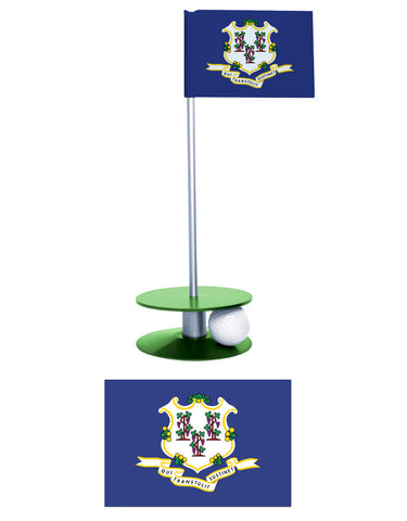 Connecticut State Flag Putt-A-Round. Show your Connecticut Pride and improve your golf game all at the same time.