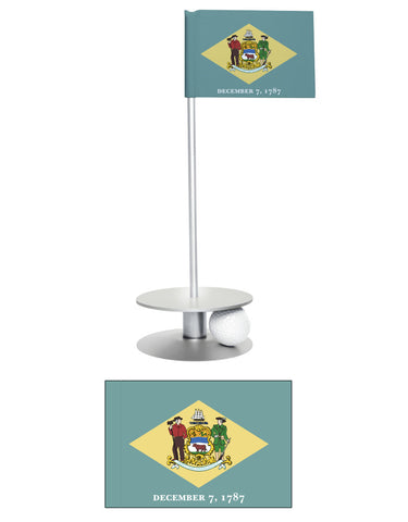 Delaware State Flag Putt-A-Round. Fun way to improve your short golf game.