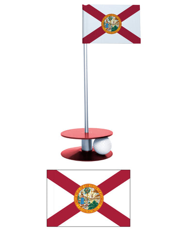 Florida State Flag Putt-A-Round. Improve your golf putting game while flying the Florida state flag proudly.