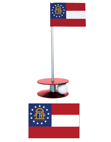Georgia State Flag Putt-A-Round putting aid. Improve your golf score. Make a great gift or give-a-way!