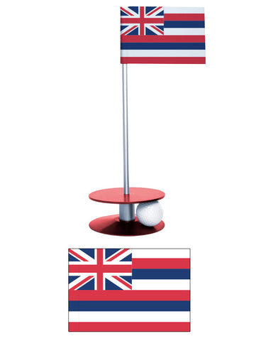 Hawaii State Flag Putt-A-Round putting aid. Improve your golf short game. Makes a great gift or give-a-way!