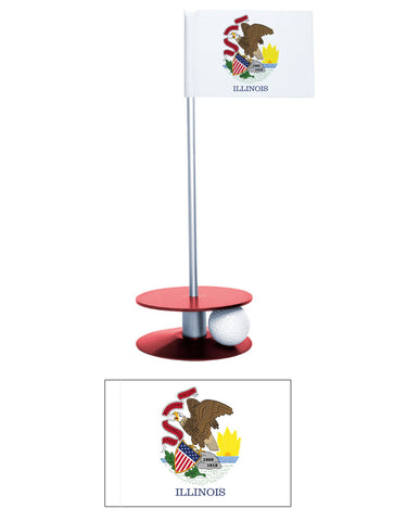 Illinois State Flag Putt-A-Round putting aid. Great for improving you golf game. A terrific gift!