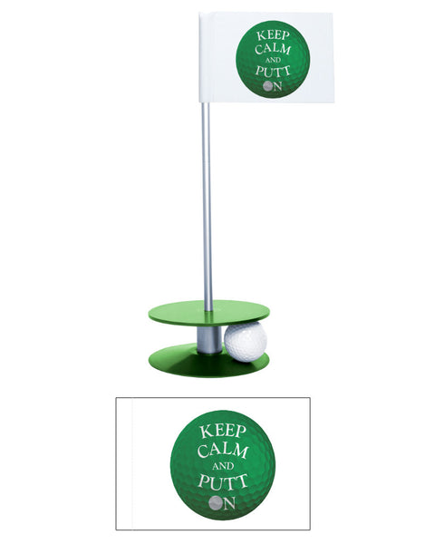 Putt-A-Round Keep Calm and Putt On Flag Collection - Get in the zone with this great golf gift
