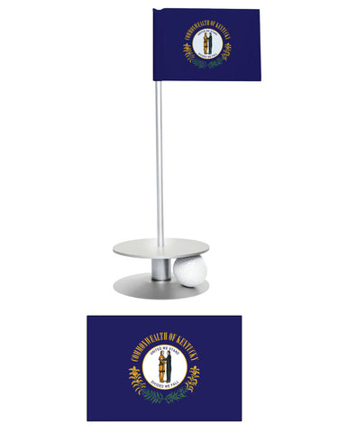 Kentucky State Flag Putt-A-Round putting aid. A fun way to practice your golf putting. A unique gift.