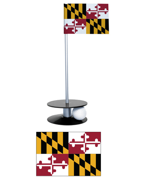 Maryland State Flag Putt-A-Round putting aid. Improve your golf short game. Makes a great gift!