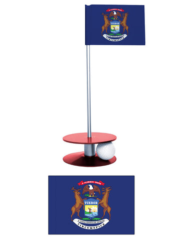 Michigan State Putt-A-Round putting aid. Improve your golf short game. A fun gift or giveaway.