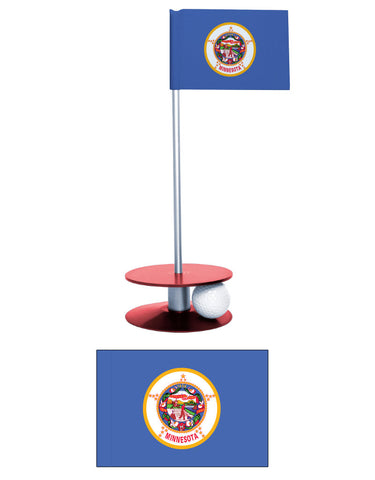 Minnesota State Flag Putt-A-Round putting aid. Improve your golf scores. Makes a great gift or giveaway.