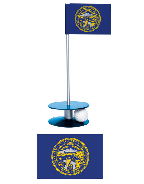 Nebraska State Flag Putt-A-Round putting aid. Makes a great gift. Improve your putting game.