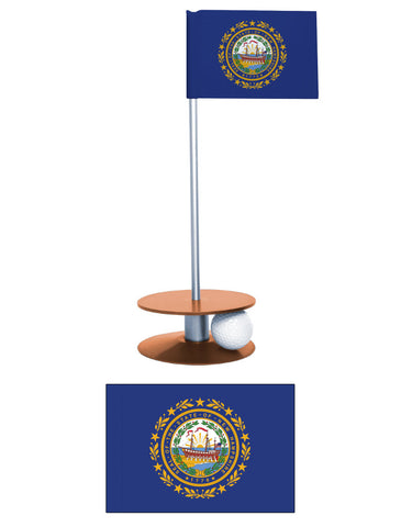 New Hampshire State Flag Putt-A-Round putting aid. Makes a great gift. Improve your golf score.