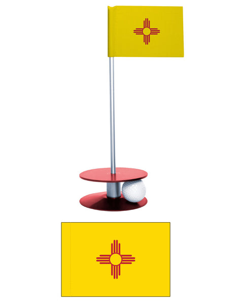 New Mexico State Flag Putt-A-Round putting aid. Improve your golf game. A perfect gift.