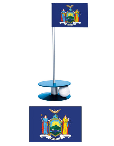 New York State Flag Putt-A-Round putting aid. Have fun while improving you golf game. A unique gift or tournament prize.