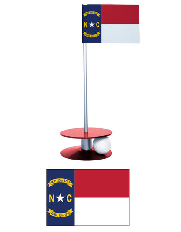 North Carolina State Flag Putt-A-Round putting aid. Improve your golf short game. A unique gift.