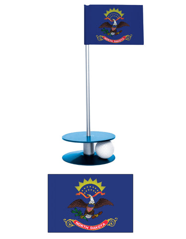 North Dakota State Flag Putt-A-Round putting aid. A great gift for any golfer.