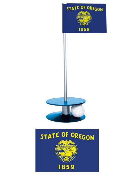 Oregon State Flag Putt-A-Round putting aid. Improve your golf scores. A unique gift for the golfer in your life.