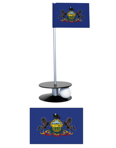 Pennsylvania State Flag Putt-A-Round putting aid. A unique gift or tournament prize.