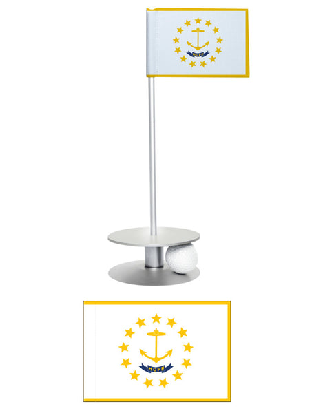 Rhode Island State Flag Putt-A-Round putting aid. A fun way to improve your golfing short game. Makes a great gift.