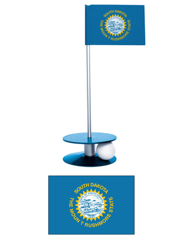 South Dakota State Flag Putt-A-Round putting aid. Have fun while improving your short game. A unique gift.