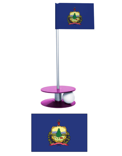 Vermont State Flag Putt-A-Round putting aid. A great gift for the golfer in your life.