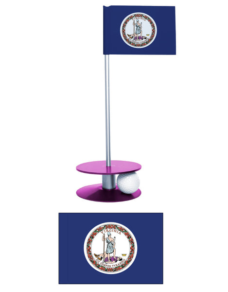 Virginia State Flag Putt-A-Round Putting Aid