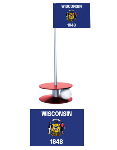Wisconsin State Flag Putt-A-Round Putting Aid