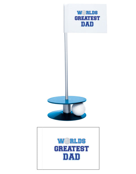 Putt-A-Round Putting Aid Worlds Great Dad Flag Collection - Give the greatest dad the gift of a better short game