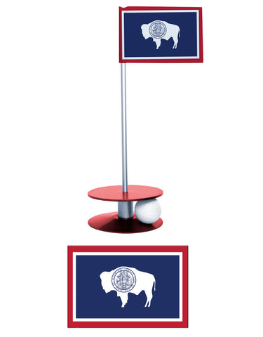 Wyoming State Flag Putt-A-Round Putting Aid