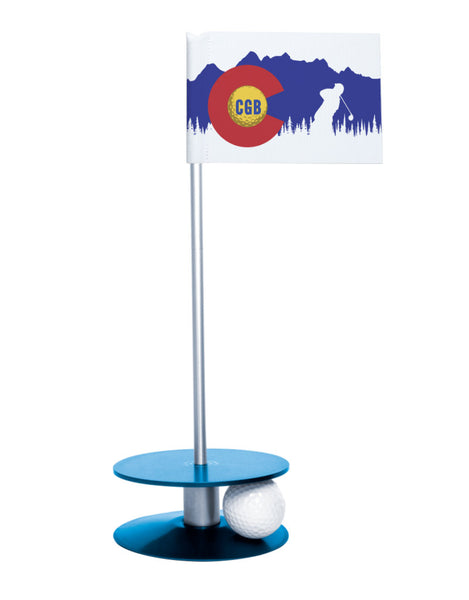 Colorado Golf Blog Putt-A-Round Putting Aid with Blue Base