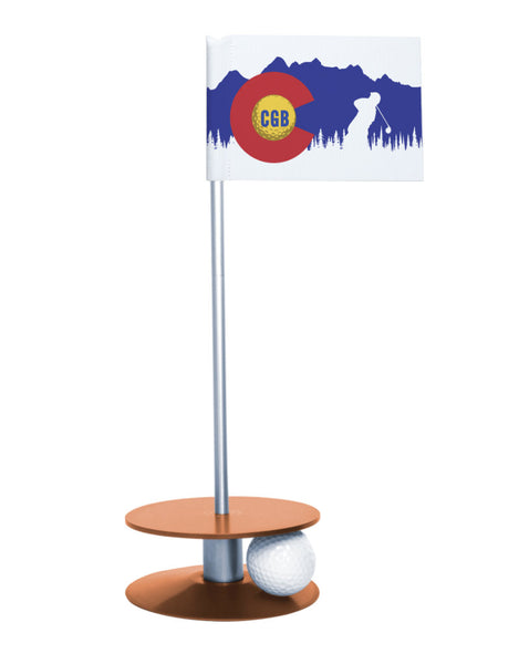 Colorado Golf Blog Putt-A-Round Putting Aid with Orange Base