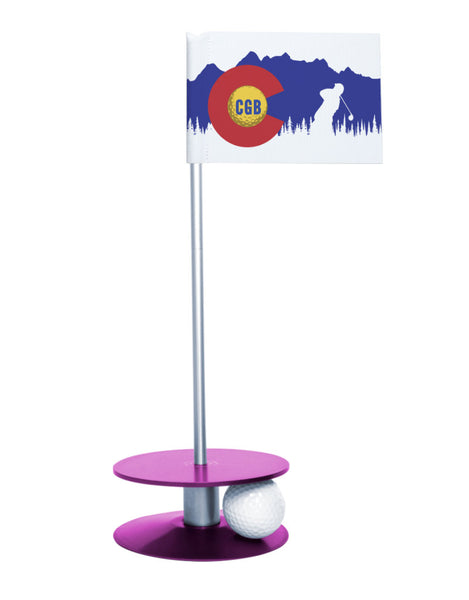 Colorado Golf Blog Putt-A-Round Putting Aid with Purple Base
