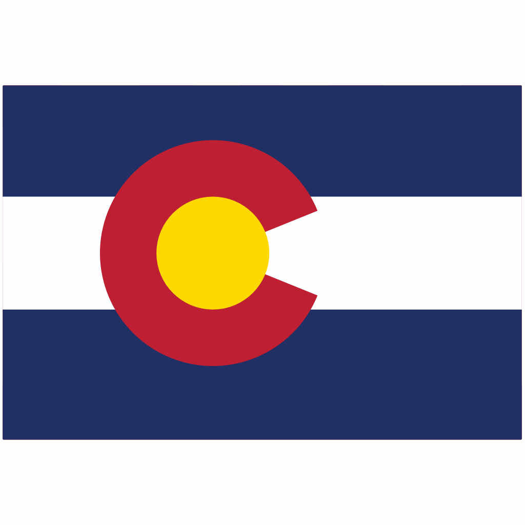 Colorado State Flag for Putt-A-Round - Flag Only