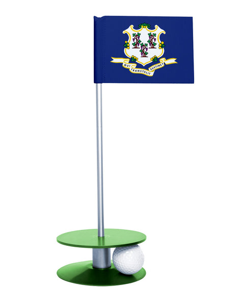 Connecticut State Flag Putt-A-Round with a green base. Great way to improve your putting game.