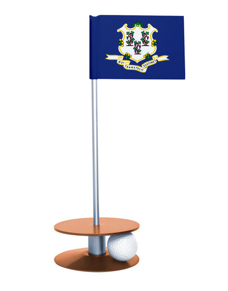 Connecticut State Flag Putt-A-Round with an orange base. Great way to improve your putting game.