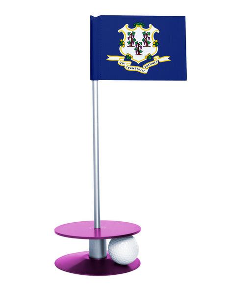 Connecticut State Flag Putt-A-Round with a purple base. Great way to improve your putting game.
