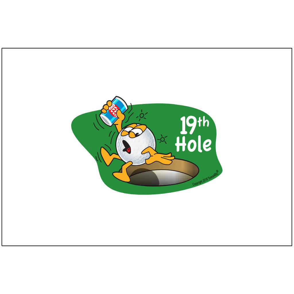 Gus the Golf Ball 19th Hole Front - Flag Only