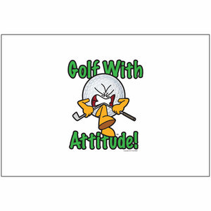 Gus the Golf Ball Golf With Attitude- Flag Only