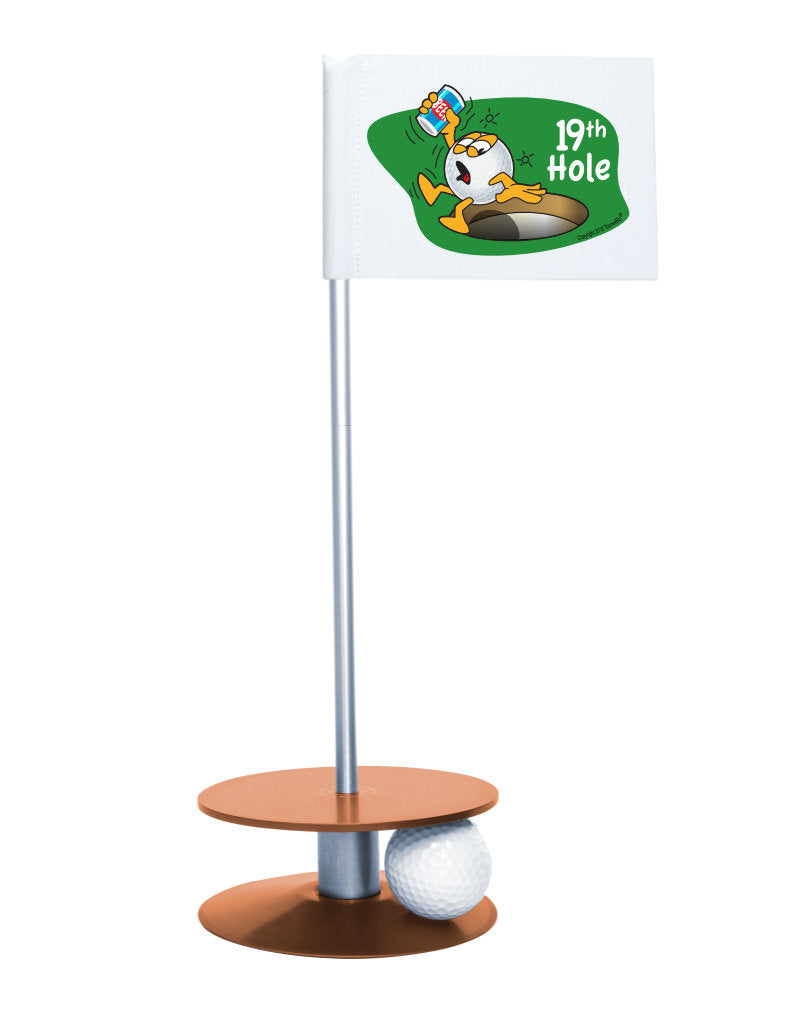 Putt-A-Round Gus The Golfball 19th Hole with Orange Base - A great gift for the golfer in your life