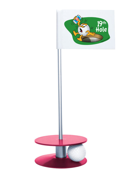 Putt-A-Round Gus The Golfball 19th Hole with Pink Base - A great gift for the golfer in your life