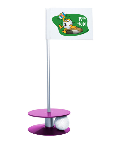 Putt-A-Round Gus The Golfball 19th Hole with Purple Base - A great gift for the golfer in your life