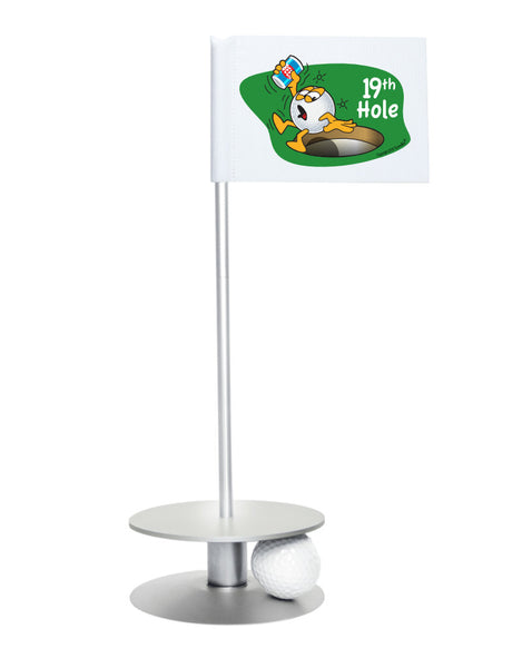 Putt-A-Round Gus The Golfball 19th Hole with Silver Base - A great gift for the golfer in your life